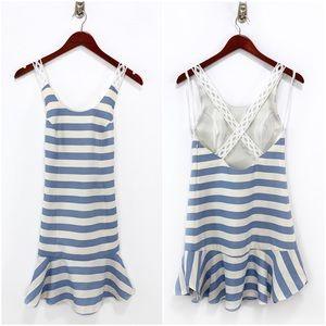 Lovers + Friends- Morning Light Blue Stripe Dress